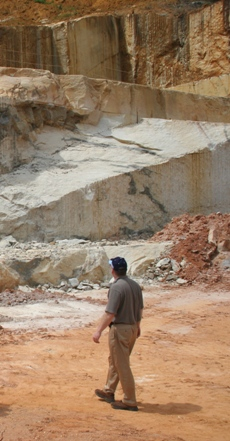 Inspecting a quarry in Brazil.